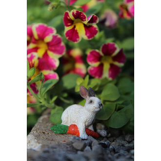Flopsy the Bunny w/Carrot for Miniature Fairy Gardens