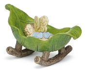 Baby Visher Fairy in Cradle  For Miniature Gardens