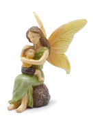 Mother & Son Fairy Snuggles For Miniature Gardens