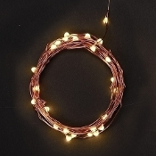 25 White LED Lights on Copper String For Miniature Fairy Gardens