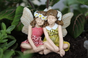 Jillie and Janette the Fairies for Miniature Fairy Gardens