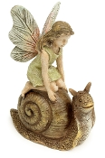 Dizzy on Slow Snail for Miniature Fairy Gardens