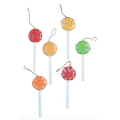 Sugared Lollipops (set/6) For Miniature Fairy Gardens