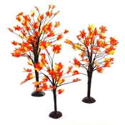 "Set/3 Fall Trees (up to 9"") For Miniature Fairy Gardens"