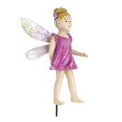 Simone, Pink Hummingbird Fairy For Miniature Fairy Gardens