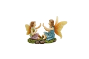 Ollie and Nancy Playing Patty Cake for Miniature Fairy Gardens