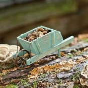 Handcrafted Wood Cart For Miniature Fairy Gardens