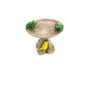 Leapfrog Birdbath for Miniature Fairy Gardens