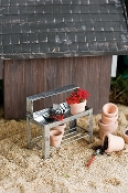 Metal Potting Gardening Bench For Miniature Fairy Gardens
