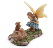 Fairy and Groundhogs For Miniature Gardens