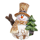 "1.25"" Woodland Fairy Snowman For Miniature Fairy Gardens"