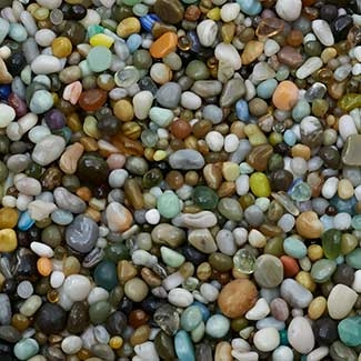 Colorful Glass Beach Pebbles For Fairy Gardens - 10oz Jar