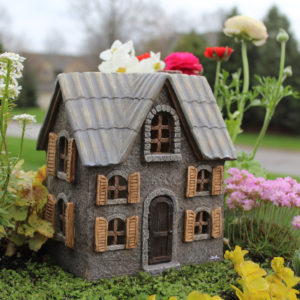 Cottonwood Manor for Fairy Gardens with Swinging Door