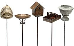 Set/5 Picks In Rustic Style for Miniature Fairy Gardens