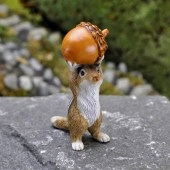 Chipmunk with Acorn for Miniature Fairy Gardening
