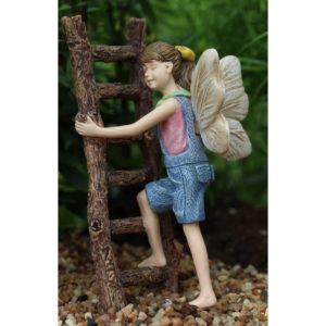 Gracie Climbing Ladder Fairy for Miniature Fairy Gardens