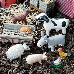 Farm Friends Set For Miniature Fairy Garden