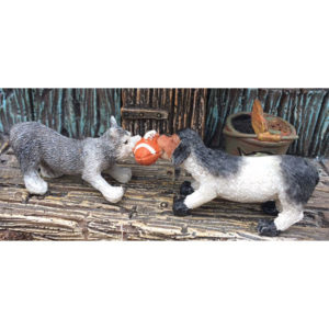 Tug of War Pets For Miniature Fairy Gardens